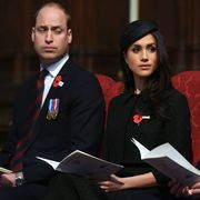 london, england   april 25  prince william, duke of cambridge, meghan markle and prince harry attend an anzac day service at westminster abbey on april 25, 2018 in london, england photo by eddie mulholland   wpa poolgetty images