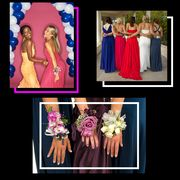 Dress, Pink, Gown, Event, Photography, Collage, Wedding dress, Bride, Prom, Formal wear,