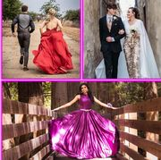 Pink, Photograph, Dress, Clothing, Gown, Purple, Fashion, Formal wear, Wedding dress, Event,