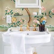 bathroom, white, room, green, wall, sink, interior design, tap, mirror, bathroom cabinet,