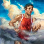 Painting, Art, Mythology, Human, Muscle, Illustration, Chest, Fictional character,