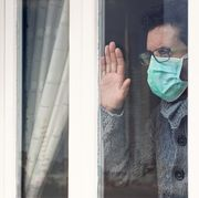 quarantined man