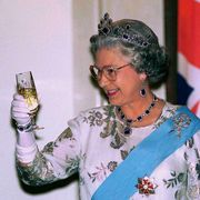queen with champagne