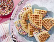 rainbow waffle wiches