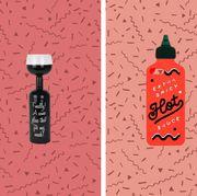 Illustration, Peach, Bottle, Drink, Wine bottle, Graphic design,