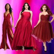 Dress, Fashion model, Clothing, Gown, Shoulder, Formal wear, Purple, Cocktail dress, Magenta, Fashion,