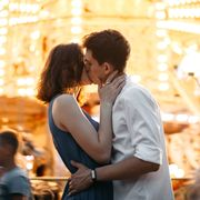 Photograph, Romance, Love, Interaction, Yellow, Honeymoon, Event, Happy, Ceremony, Kiss,