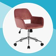 pink office desk chair