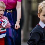 Child, Toddler, Uniform, Tie, Child model, Outerwear,