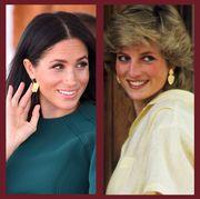 kate middleton, prince charles, meghan markle, and princess diana