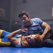 Wrestling, Combat sport, Muscle, Contact sport, Leg, Thigh, Arm, Wrestler, Individual sports, Freestyle wrestling,