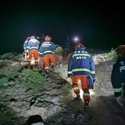 rescuers search