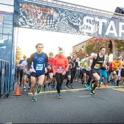 Marathon, Running, Athlete, Long-distance running, Recreation, Half marathon, Outdoor recreation, Individual sports, Sports, Sky,
