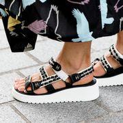 Footwear, Shoe, Street fashion, Sandal, Fashion, Ankle, High heels, Leg, Human leg, Wedge,