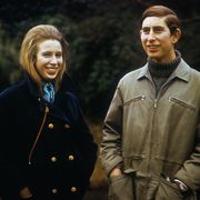 Prince Charles and Princess Anne Smiling