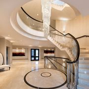 Stairs, Interior design, Property, Room, Building, Lobby, Ceiling, Floor, Handrail, Architecture,