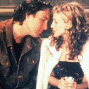 Romance, Kiss, Interaction, Love, Gesture, Smile, Black hair,