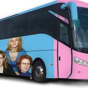 Land vehicle, Bus, Tour bus service, Transport, Mode of transport, Motor vehicle, Vehicle, Product, Public transport, Car,