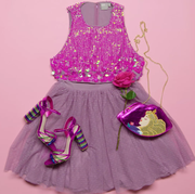 Pink, Clothing, Purple, Product, Dress, Magenta, Costume design, Day dress, Costume accessory, Costume,