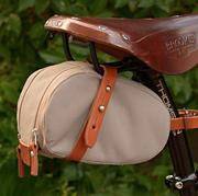Bicycle saddle, Bicycle part, Horse tack, Saddle, Leather,