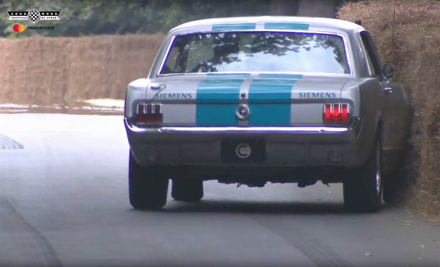 Watch the Autonomous '65 Mustang Flawlessly Mimic a Drunk Driver