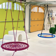 a garage turned playroom by smart d2 playrooms
