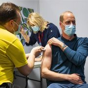 prince william, muscles, vaccine picture