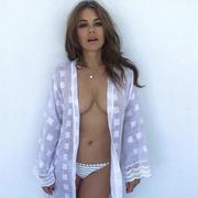 elizabeth hurley topless bikini instagram photo