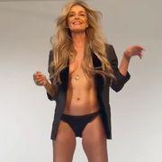 paulina porizkova topless abs bts photo shoot