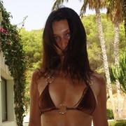 bella hadid abs velvet bikini instagram photo