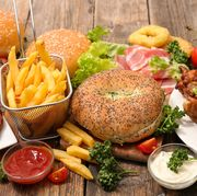 selection of american food