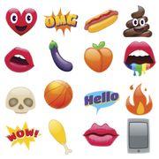set of fantastic smiley emoticons emoji design set