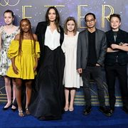 angelina jolie and her kids at the eternals premiere