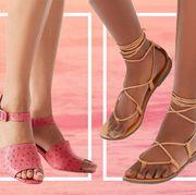 Footwear, Shoe, Pink, Ankle, Leg, Sandal, Human leg, Joint, High heels, Calf,