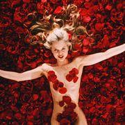 Red, Neo-burlesque, Dancer, Flesh, Art, Illustration,