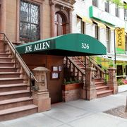 mandatory credit photo by mark kennedyapshutterstock 6125317b this photo shows the exterior of the joe allen on restaurant row in new york joe allen, which has been feeding theatergoers since 1965, has a menu that ranges from a spicy thai stew 19 to a pan roasted monkfish 28 and is such a times square mainstay that its website lists each shows running time a post theater drink is part of the broadway experience go for the food broadway, new york, usa