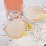 Drink, Liqueur, Champagne cocktail, Peach, Corpse reviver, Alcoholic beverage, Classic cocktail, Bellini, Food, Champagne,