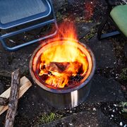 wood burning in solo stove fire pit