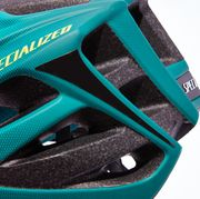 Helmet, Personal protective equipment, Green, Blue, Turquoise, Teal, Footwear, Electric blue, Bicycles--Equipment and supplies, Headgear,