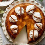 spiced pumpkin latte cheesecake thanksgiving dessert