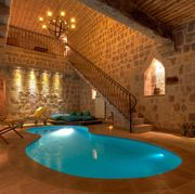 The pool at in the Splendid Cave Suite at the Argos Hotel in Cappadocia