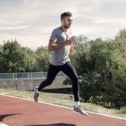 Sprinter running on runners tracks