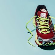 Footwear, Shoe, Yellow, Athletic shoe, Outdoor shoe, Sneakers,
