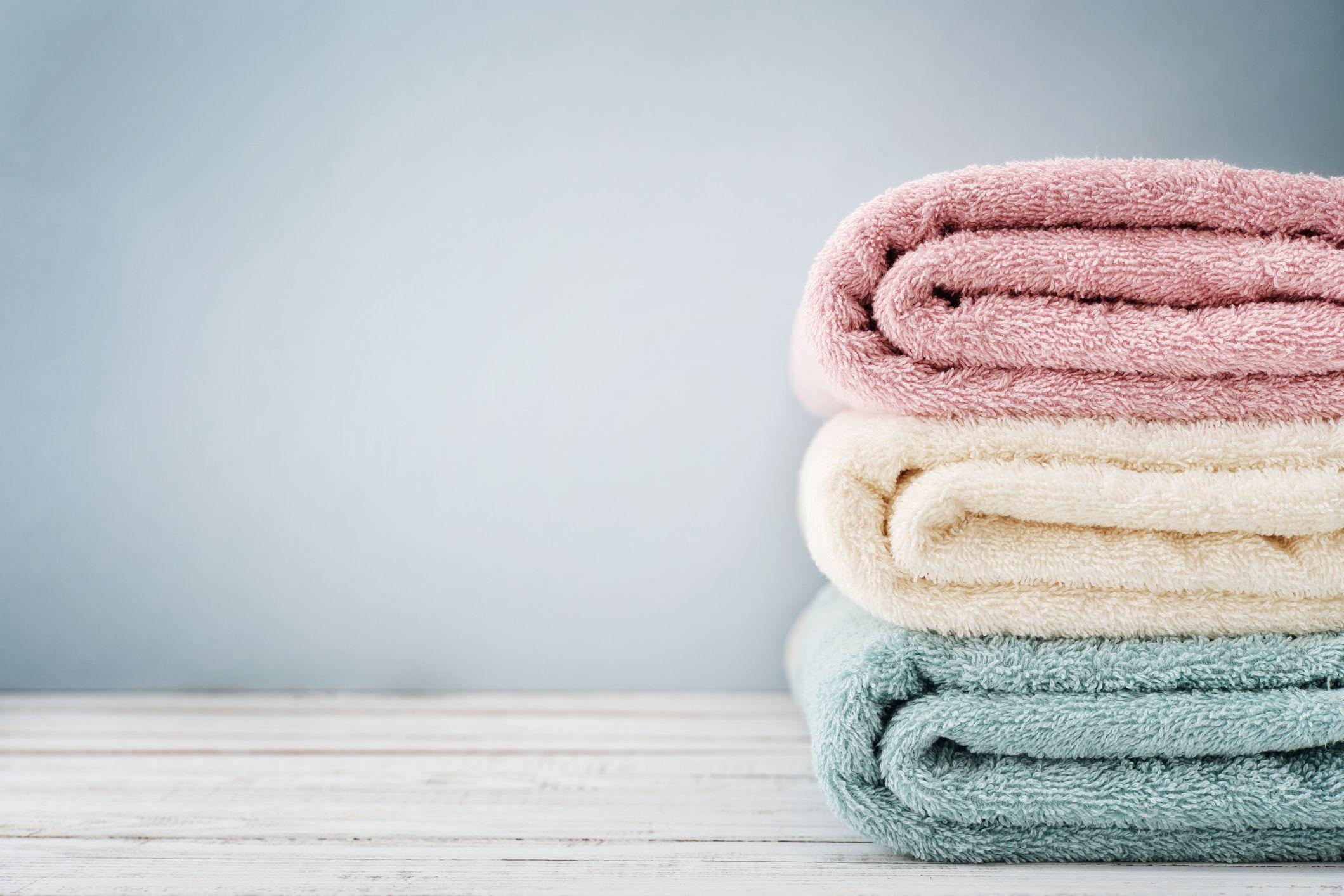 Stack of bath towels
