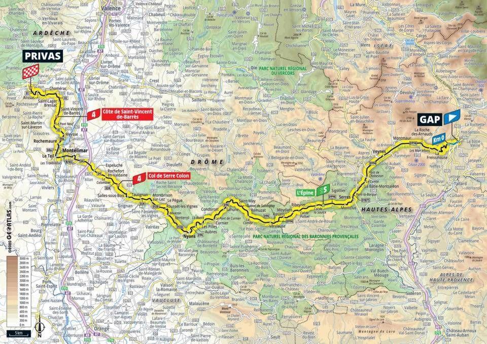 tour de france stage 5 map