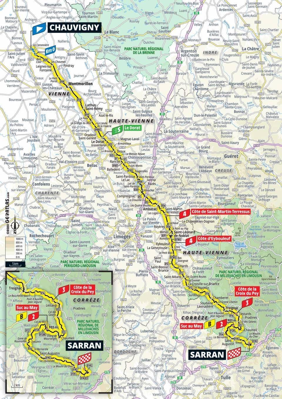 tour de france stage 12 map