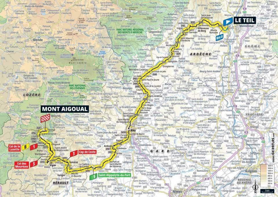 stage 6 tour de france map