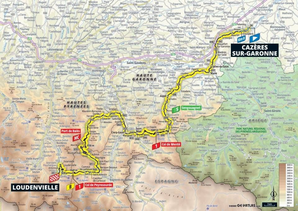 tour de france stage 8 map
