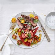 steak recipes - grilled watermelon and steak salad