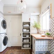 Room, Property, Ceiling, Furniture, Interior design, Floor, Laundry room, Building, House, Cabinetry,